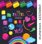 vector set of colored elements... | Shutterstock .eps vector #623236865