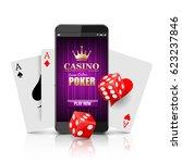 online casino concept ... | Shutterstock .eps vector #623237846