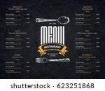 restaurant menu design. vector... | Shutterstock .eps vector #623251868