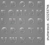 glass font | Shutterstock . vector #623253746