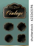 set of high quality vintage... | Shutterstock .eps vector #623263196