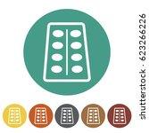 pharmacy and drug icons set... | Shutterstock .eps vector #623266226