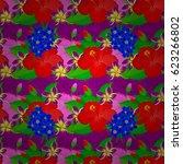 vector seamless floral pattern...   Shutterstock .eps vector #623266802