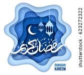ramadan kareem greeting design... | Shutterstock .eps vector #623272322