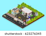 vector isometric low poly...   Shutterstock .eps vector #623276345
