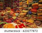 sari shop. indian traditional...   Shutterstock . vector #623277872
