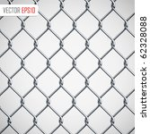 Chain Fence. Vector Illustration