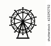 ferris wheel vector icon. | Shutterstock .eps vector #623292752