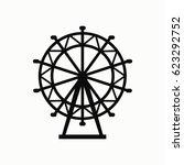 ferris wheel vector icon. | Shutterstock .eps vector #623292752