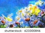 flowers painting   Shutterstock . vector #623300846