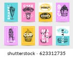 vector hand drawn set of trendy ... | Shutterstock .eps vector #623312735