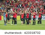 Small photo of Unidentified fans of Muangthong United supporters during the AFC Champions League 2017 Group E between Muangthong United and Ulsan Hyundai at Thunder Dome Stadium on April12, 2017 in Bangkok, Thailand