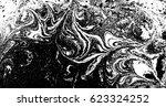 black and white liquid texture  ... | Shutterstock .eps vector #623324252