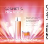 cosmetics beauty series  ads of ... | Shutterstock .eps vector #623324696