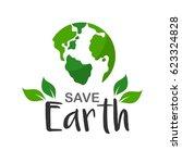 earth day april 22 illustration.... | Shutterstock .eps vector #623324828