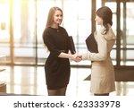 handshake of the company... | Shutterstock . vector #623333978