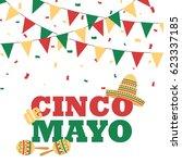 cinco de mayo banner with... | Shutterstock . vector #623337185