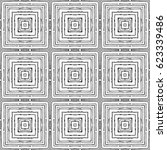 squares of fine grunge lines... | Shutterstock .eps vector #623339486