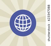 globe icon. sign design.... | Shutterstock .eps vector #623347088