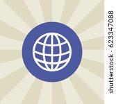 globe icon. sign design.... | Shutterstock .eps vector #623347088