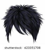 trendy woman short  hairs... | Shutterstock .eps vector #623351708