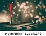 target hit in the center by...   Shutterstock . vector #623351846