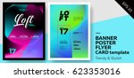 set of trendy colourful covers. ... | Shutterstock .eps vector #623353016