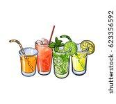 orange  grapefruit  lemon  lime ... | Shutterstock .eps vector #623356592