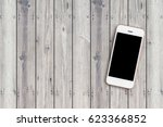 mobile phone with blank screen... | Shutterstock . vector #623366852