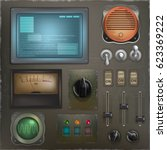 stylized retro control panel. a ...
