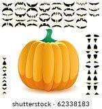 halloween pumpkin with big set... | Shutterstock .eps vector #62338183