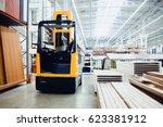 forklift loader pallet building ... | Shutterstock . vector #623381912
