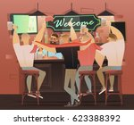 beer bar   restaurant. football ... | Shutterstock .eps vector #623388392