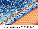 open deck on cruise ship  sea... | Shutterstock . vector #623392166