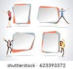 vector banners   backgrounds... | Shutterstock .eps vector #623393372