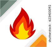 flame icon | Shutterstock .eps vector #623403092