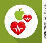 flat illustration of healthy... | Shutterstock .eps vector #623413916