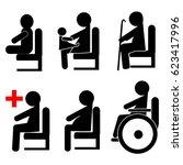 priority seating for children ...   Shutterstock .eps vector #623417996