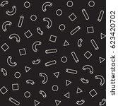 seamless primitive jumble... | Shutterstock .eps vector #623420702