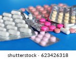 pills and another drugs for... | Shutterstock . vector #623426318