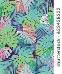 tropical palms | Shutterstock . vector #623428322