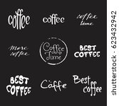 hand drawn lettering with... | Shutterstock .eps vector #623432942