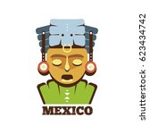 mexico mayan mask icon | Shutterstock .eps vector #623434742