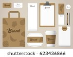 business stationery mock up for ... | Shutterstock .eps vector #623436866
