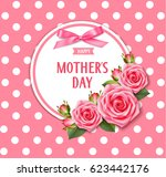 happy mother's day template for ... | Shutterstock .eps vector #623442176