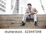 business man having heart...   Shutterstock . vector #623447348