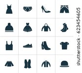 dress icons set. collection of...   Shutterstock .eps vector #623454605