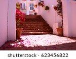 stairs. beautiful spanish... | Shutterstock . vector #623456822