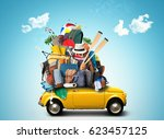 vacation and travel  a huge...   Shutterstock . vector #623457125