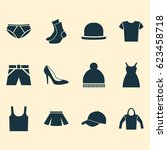 dress icons set. collection of...   Shutterstock .eps vector #623458718